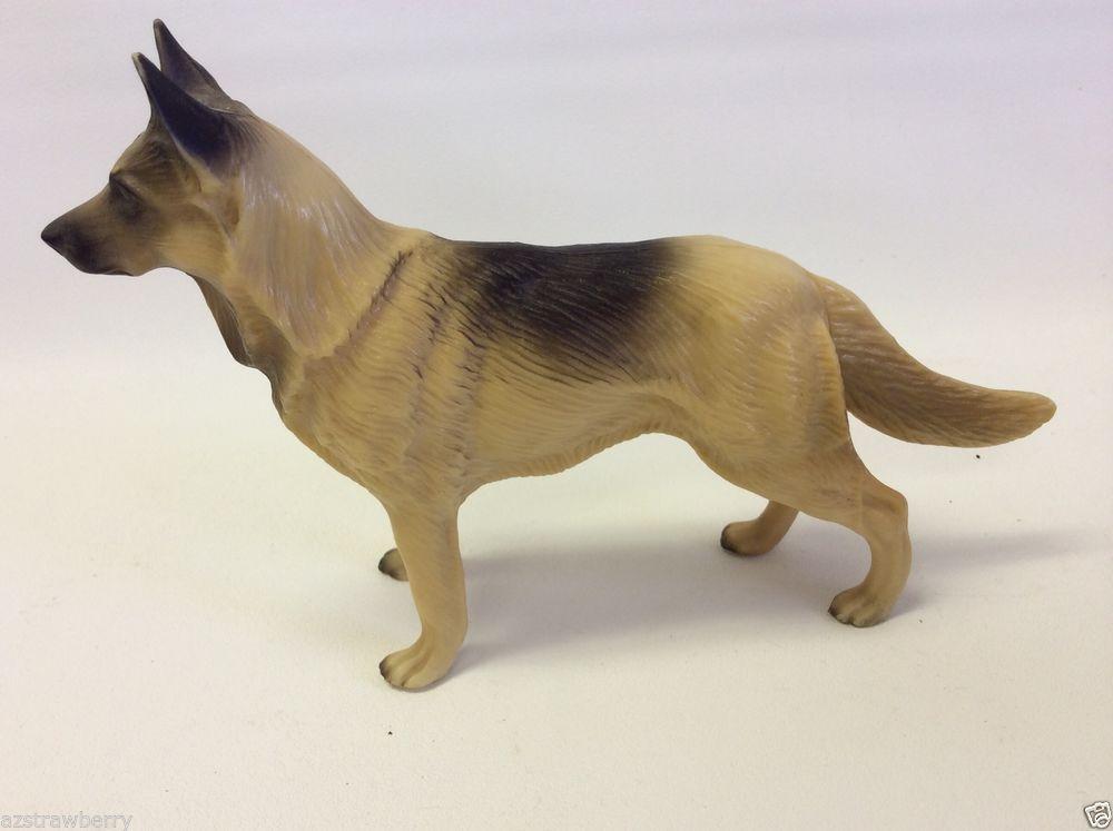 Vintage Celluloid Animal Dog German Shepherd Figurine Pet Dogs