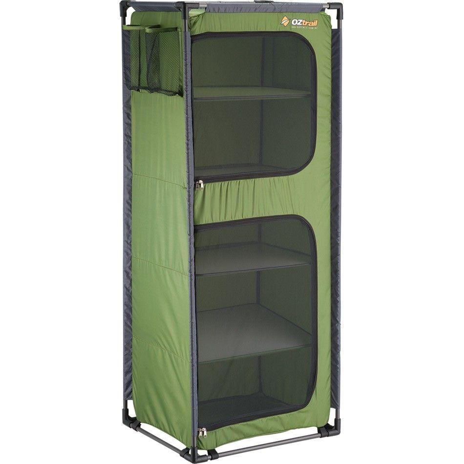 Oztrail Folding 5 Shelf Camp Cupboard Camping Storage Camping Furniture Tent Camping
