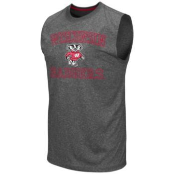 Colosseum Wisconsin Badgers Whirlwind Sleeveless Tee - Men