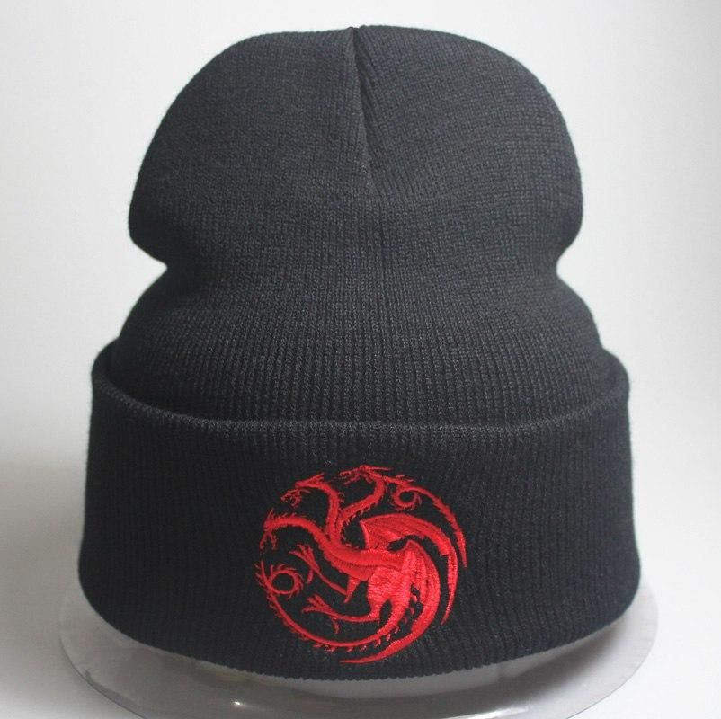 5d996814e9c Game Of Thrones Beanie Knitted Embroidered Targaryen Warm Beanie Hat Men  Women Beanie Free Shipping