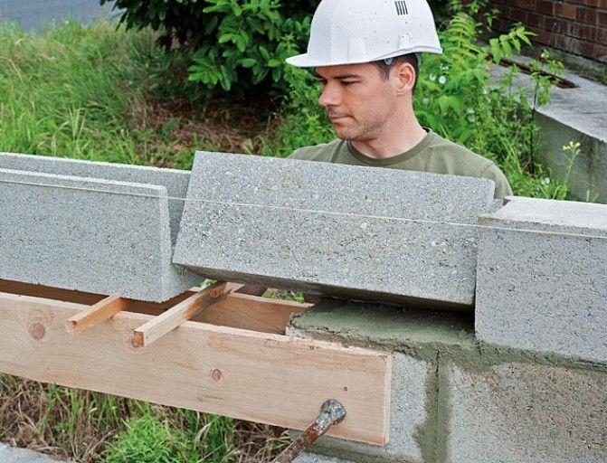 Monter un linteau en parpaing béton prêt à poser rénovation maison - Pose Beton Cellulaire Exterieur