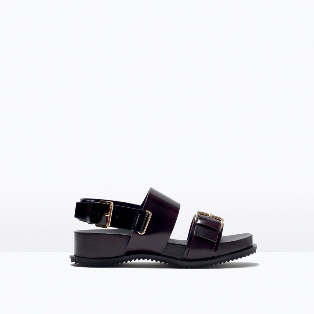 ZARA - NEW THIS WEEK - FLAT SANDAL WITH BUCKLES