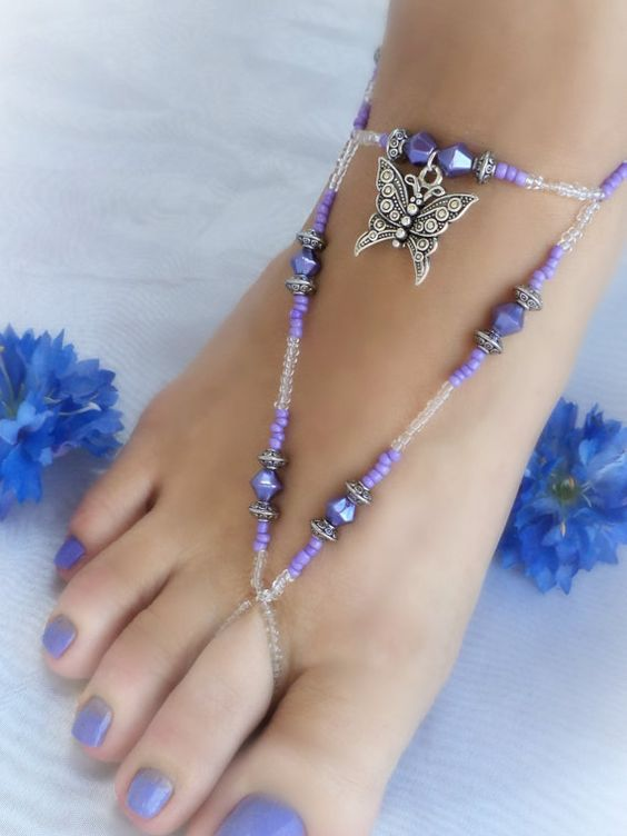 Toe Anklet / Foot Jewelry by AndoricalBeads on Etsy, $15.00