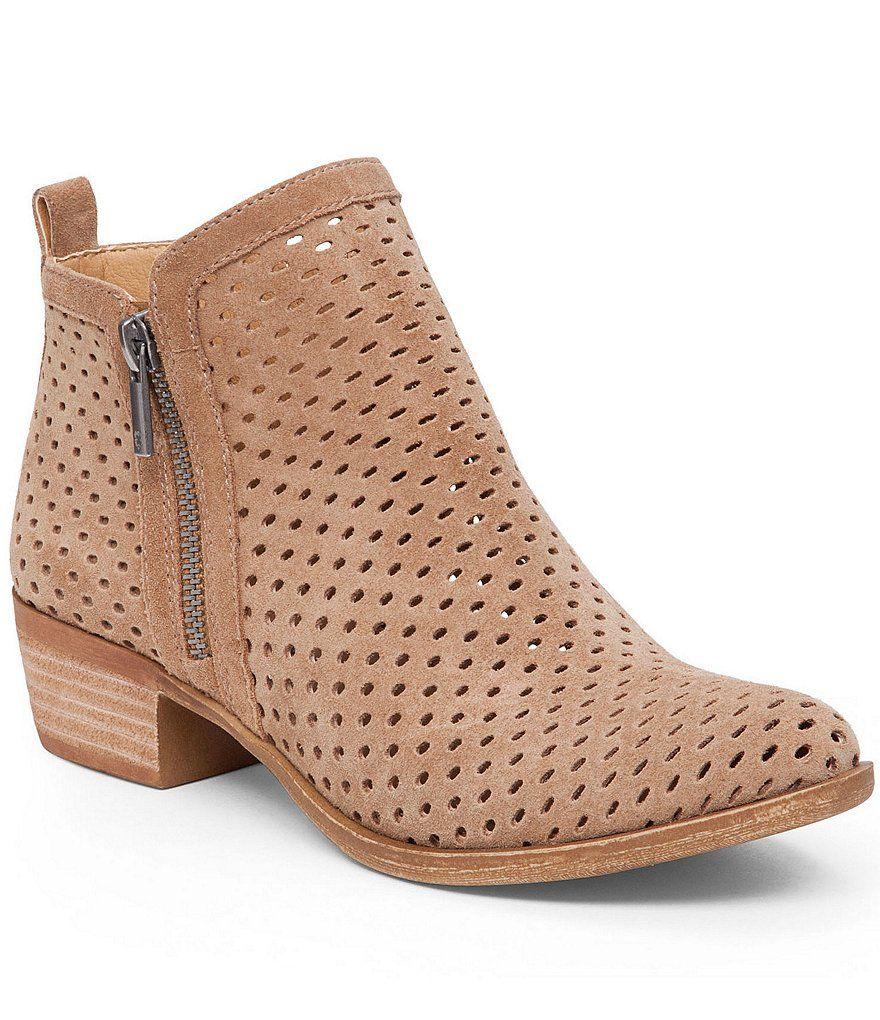 Lucky Brand Basel 3 Side Zip Perforated Leather Block Heel Booties. Sesame  OilLeather BootiesBaselLucky BrandBoots WomenShoes ...