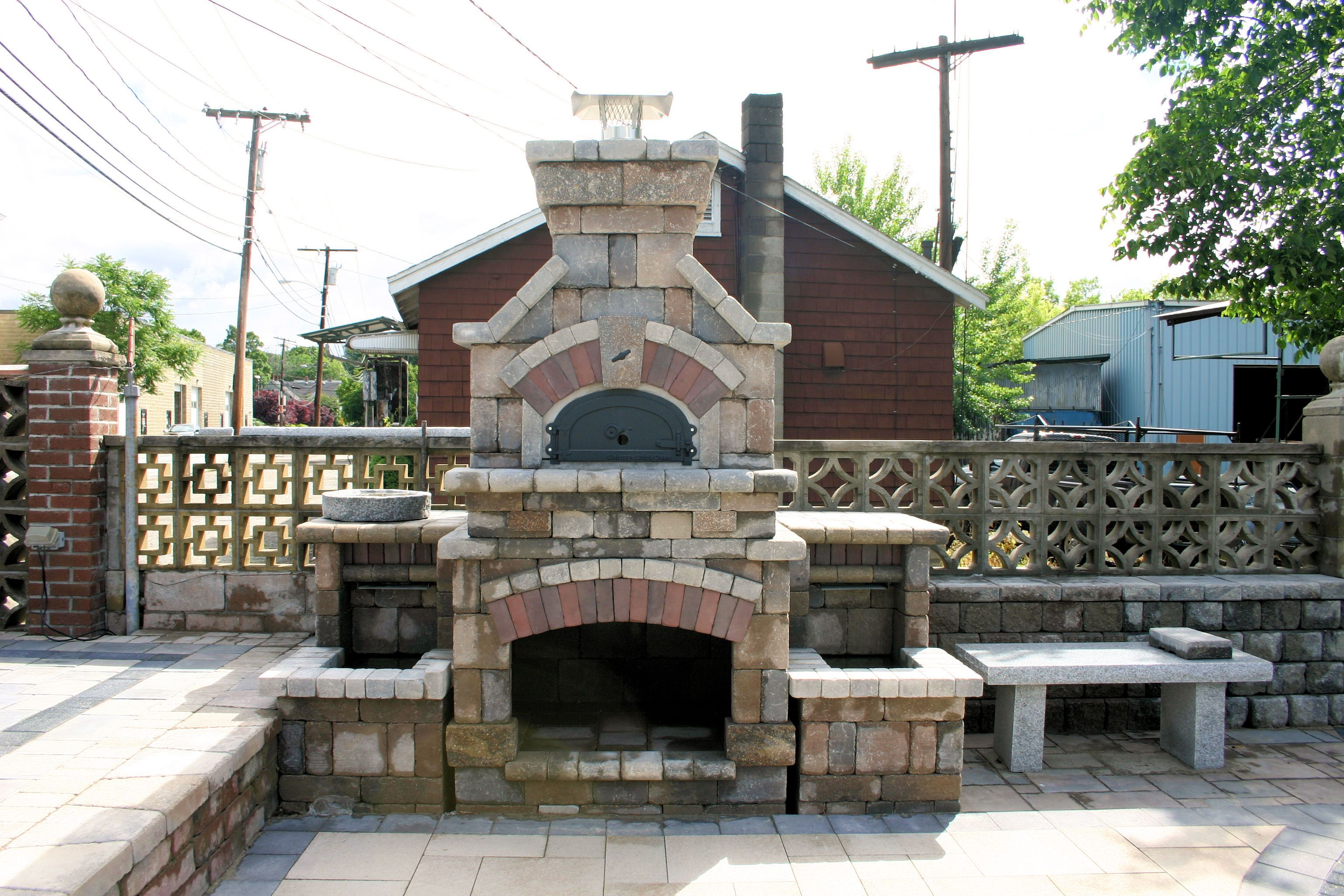 of luxury fireplace outdoor and pizza for oven image backyard plans