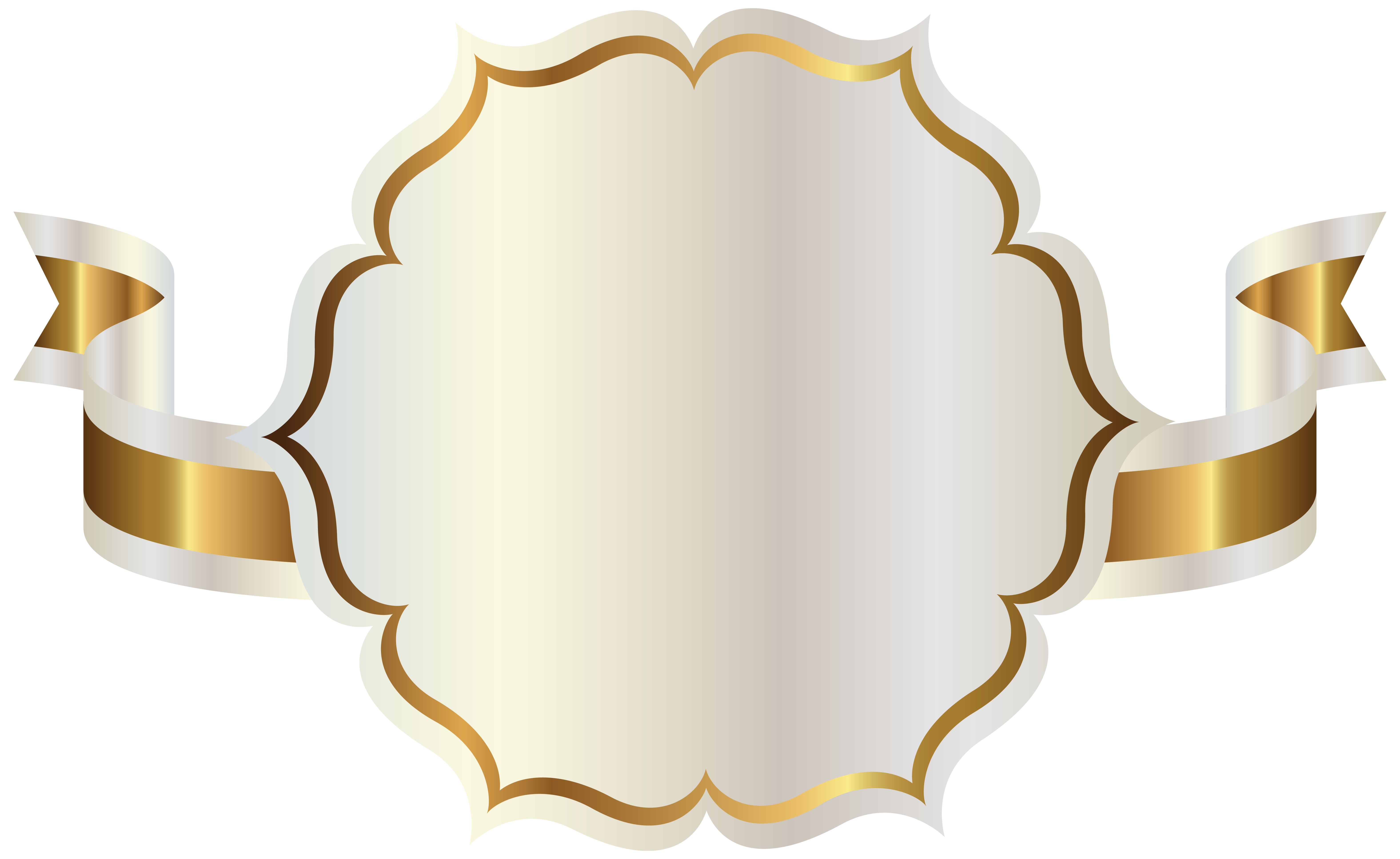 White Label With Gold Ribbon Png Clipart Png 6302 3868 Etiquetas Em Branco Molduras Douradas Cartoes Decorados