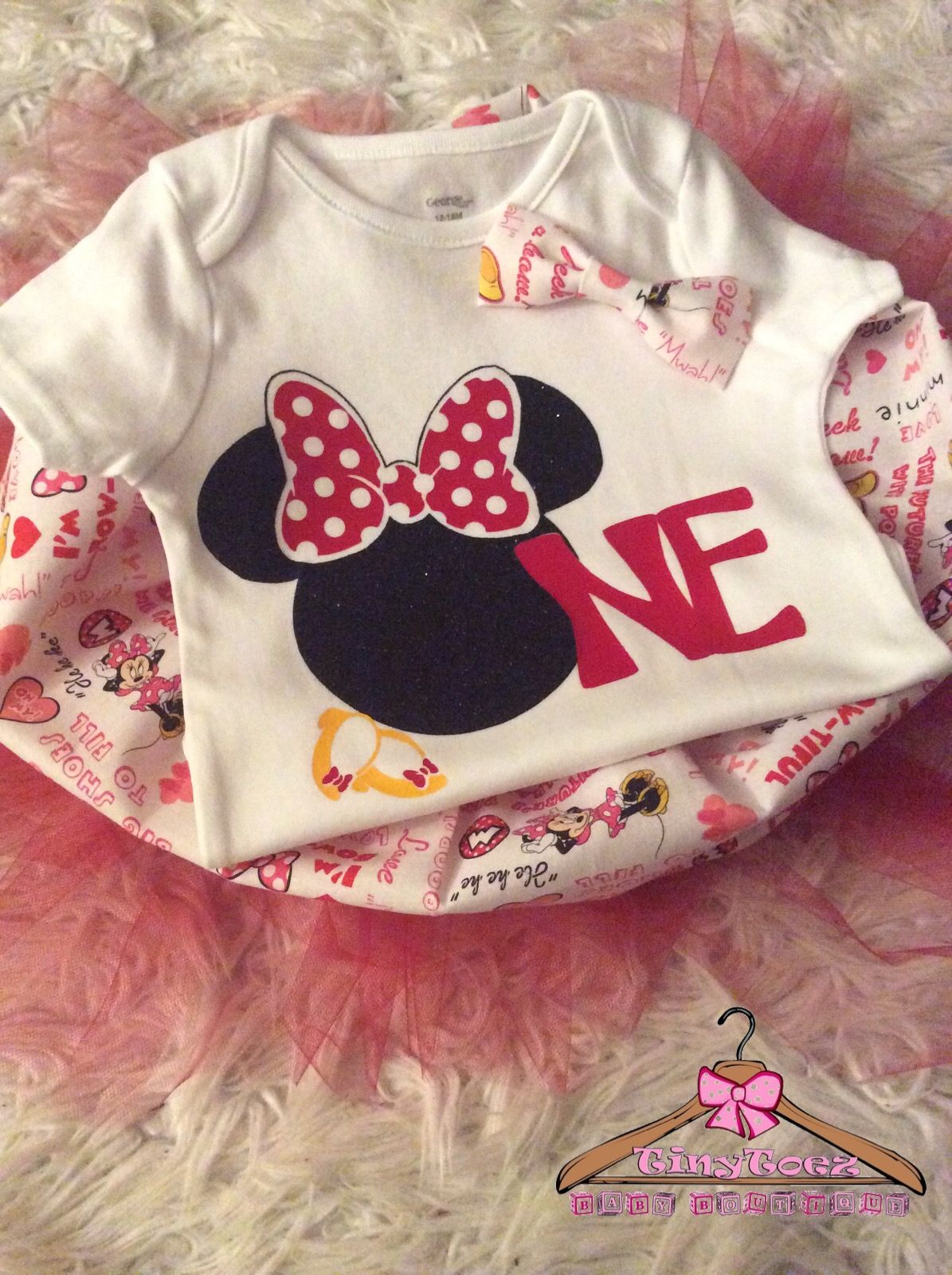 First Birthday Outfit Minnie Mouse Birthday Personalized Clothes Baby Shirts First Birthday Outfits