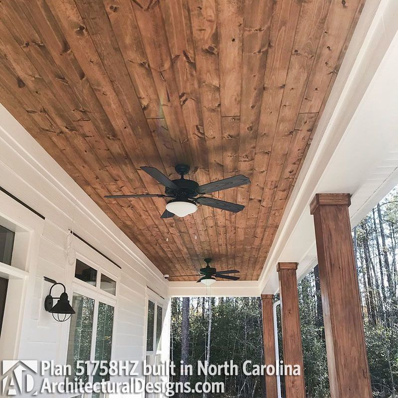 Front Porch Ceiling Idea House With Porch House Exterior