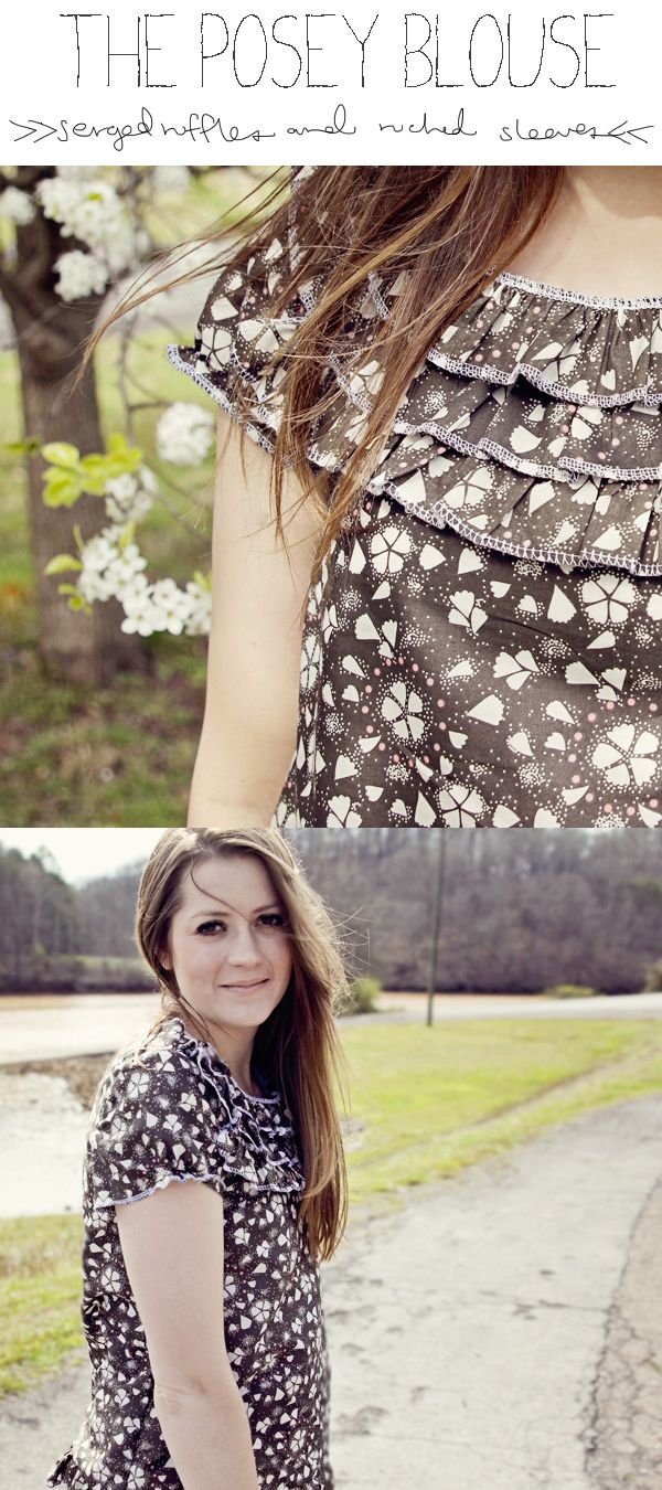 see kate sew: the posey blouse tutorial