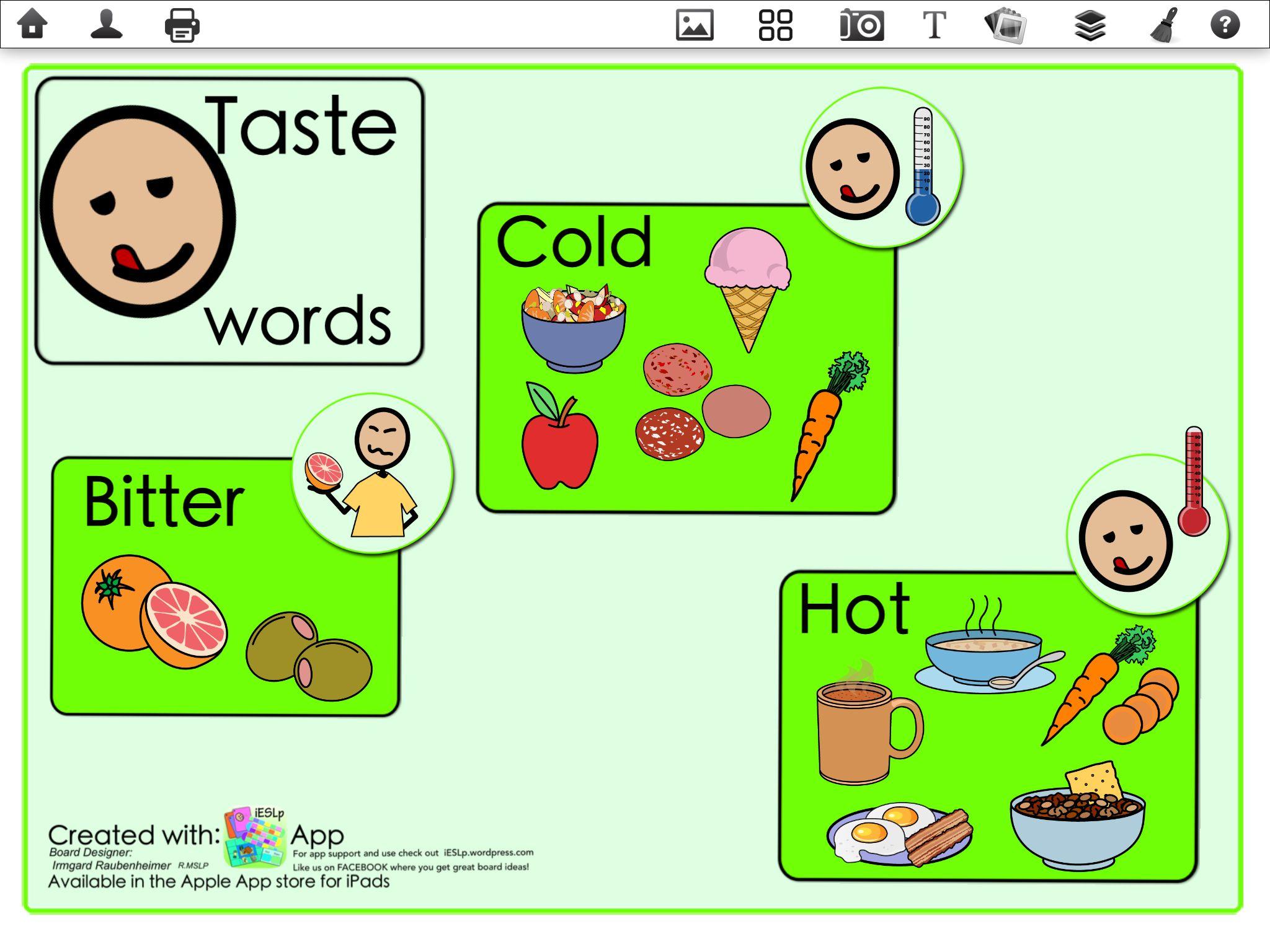 Five Senses Taste Words