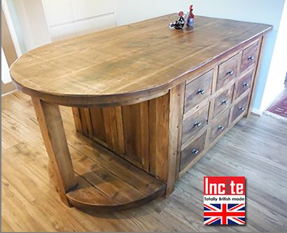 Chunky Rustic Curved Kitchen Island Made In England Kitchen Cabinets Bespoke Rustic Kitchen Units
