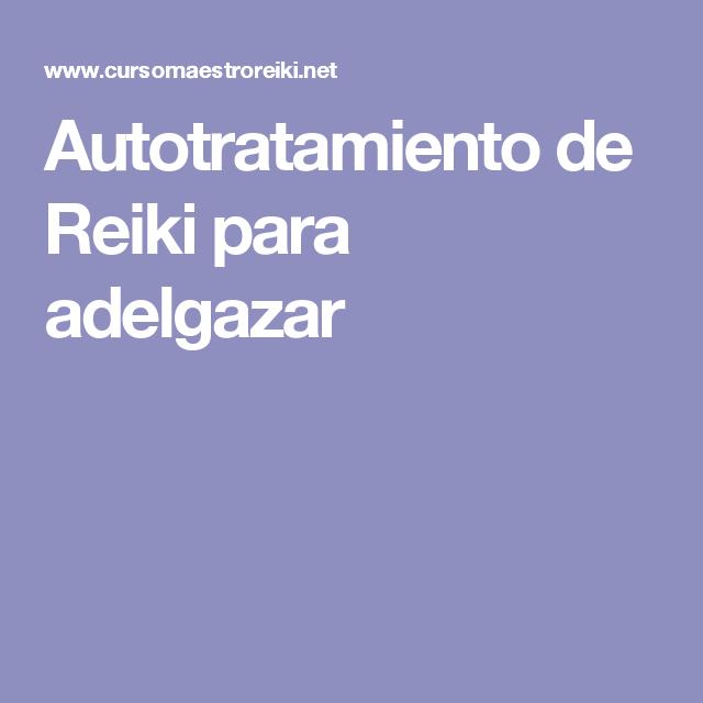 Autotratamiento de Reiki para adelgazar