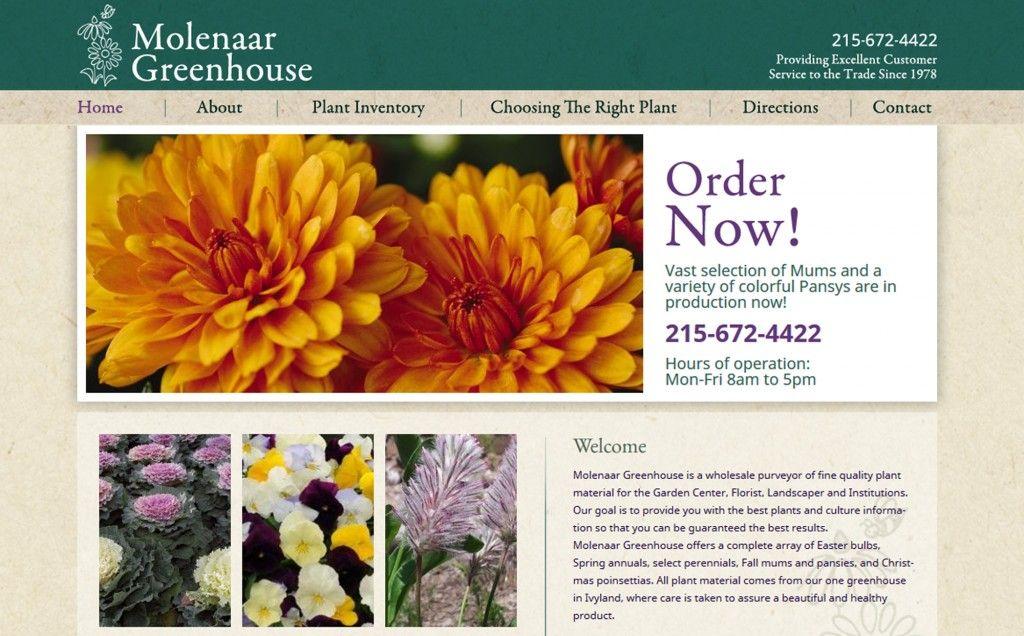Molenaar Greenhouse Ivyland Pa Bucks County Website Design Http Www Molenaargreenhouse Com Website Design Web Design Plant Inventory