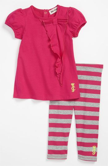 Juicy Couture Ruffle Shirt Stripe Leggings Infant Nordstrom Juicy Couture Baby Girl Outfits Baby Fashion