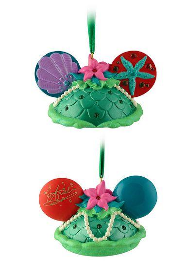 Ariel Ear Hat Ornament - December 2014 from World of Disney Store in Downtown Disney - Orlando, FL ~ <3 Michelle M