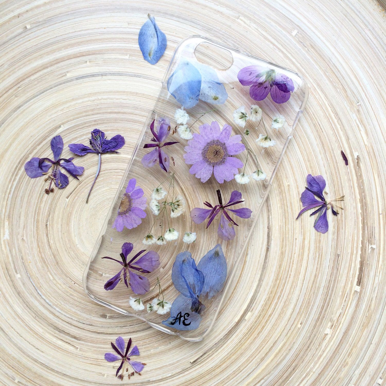 super popular 4f63d 87238 Ultraviolet Flower Pressed Galaxy 8 Trendy Iphone X Case Blue Phone ...