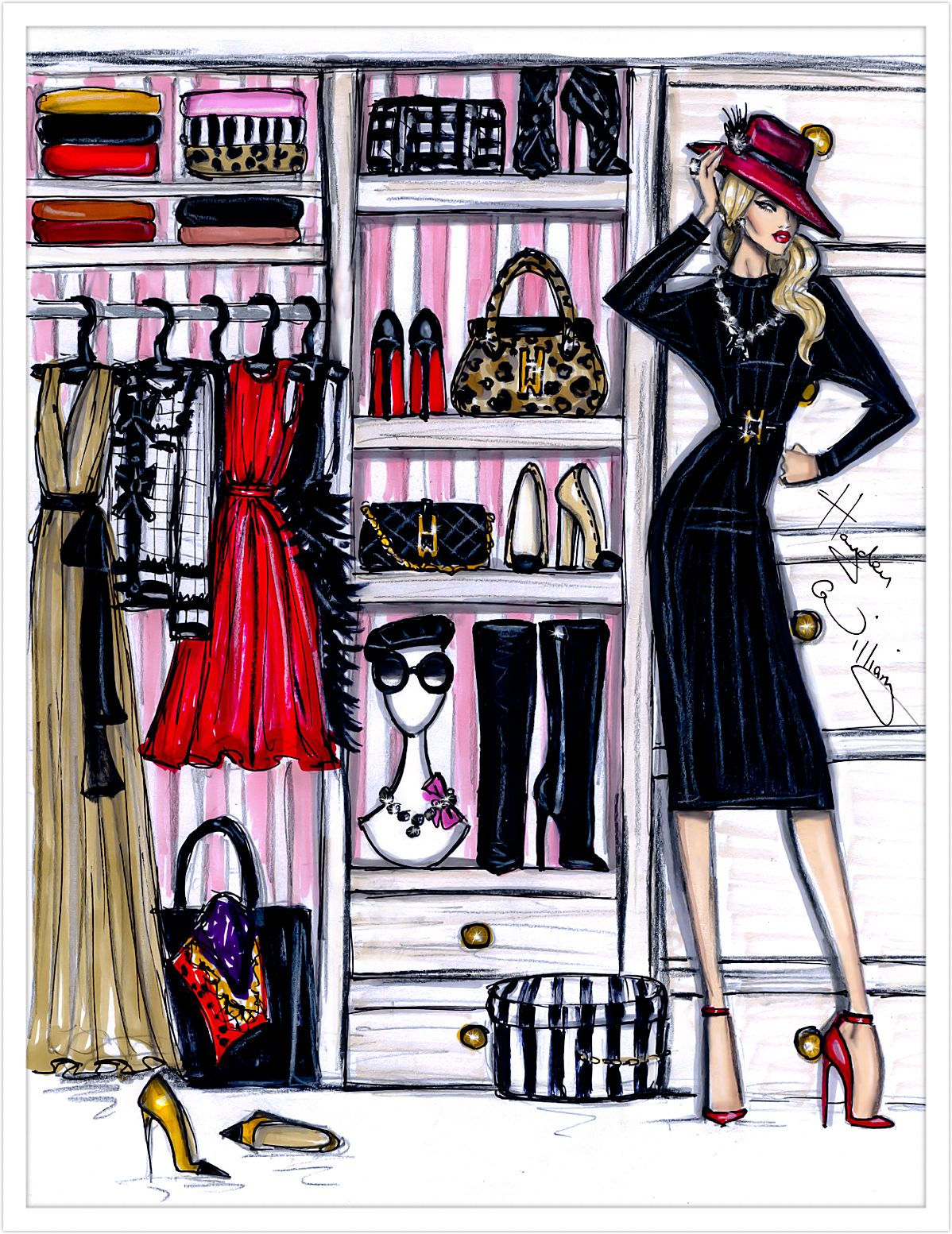 "haydenwilliamsillustrations ""Fashion Closet by Hayden"