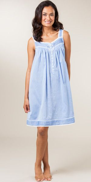 5a47a61d6c cute chambray Eileen West Nightgown!