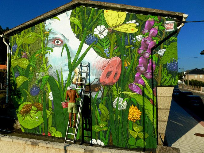 Liqen S Surreal Nature Inspired Murals And Illustrations Murals Street Art Street Art Street Art Graffiti