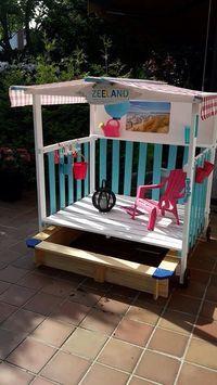 Aldi Sandkasten Hack Mit Dach Ideen Kinder Garten Spielplatz