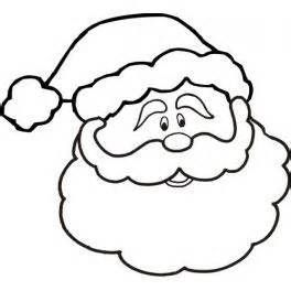 Free Printable Santa Face Template Bing Christmas Coloring
