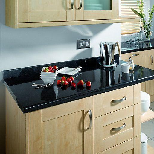 Black Kitchen Countertops Worktop, Oyster Bed Kitchen Cabinets