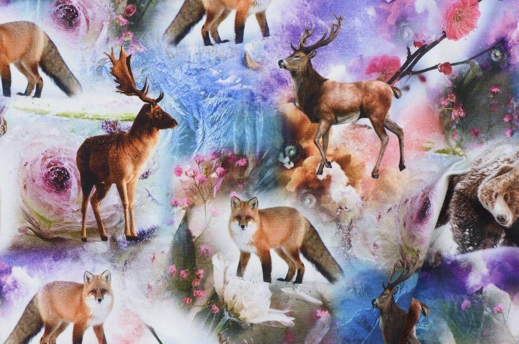 Goedkope meubelstoffen ~ Qjutie kids spring in alaska tricot goedkope stoffen