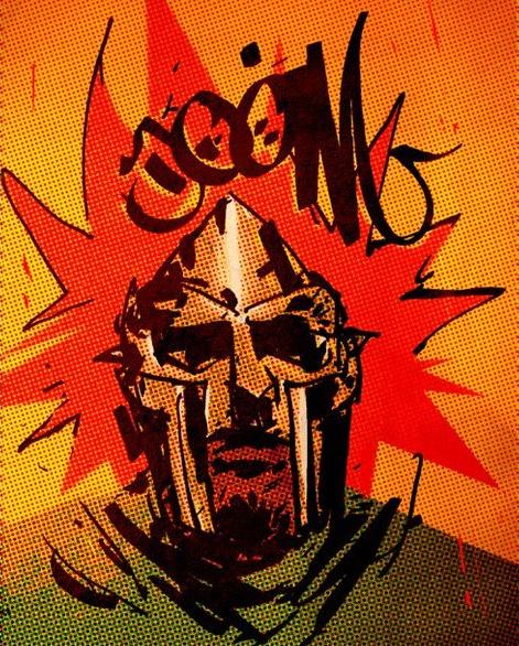 Stones Throw Artist Mf Doom Cartoon Illustration Mf Doom Hip Hop Art Album Cover Art