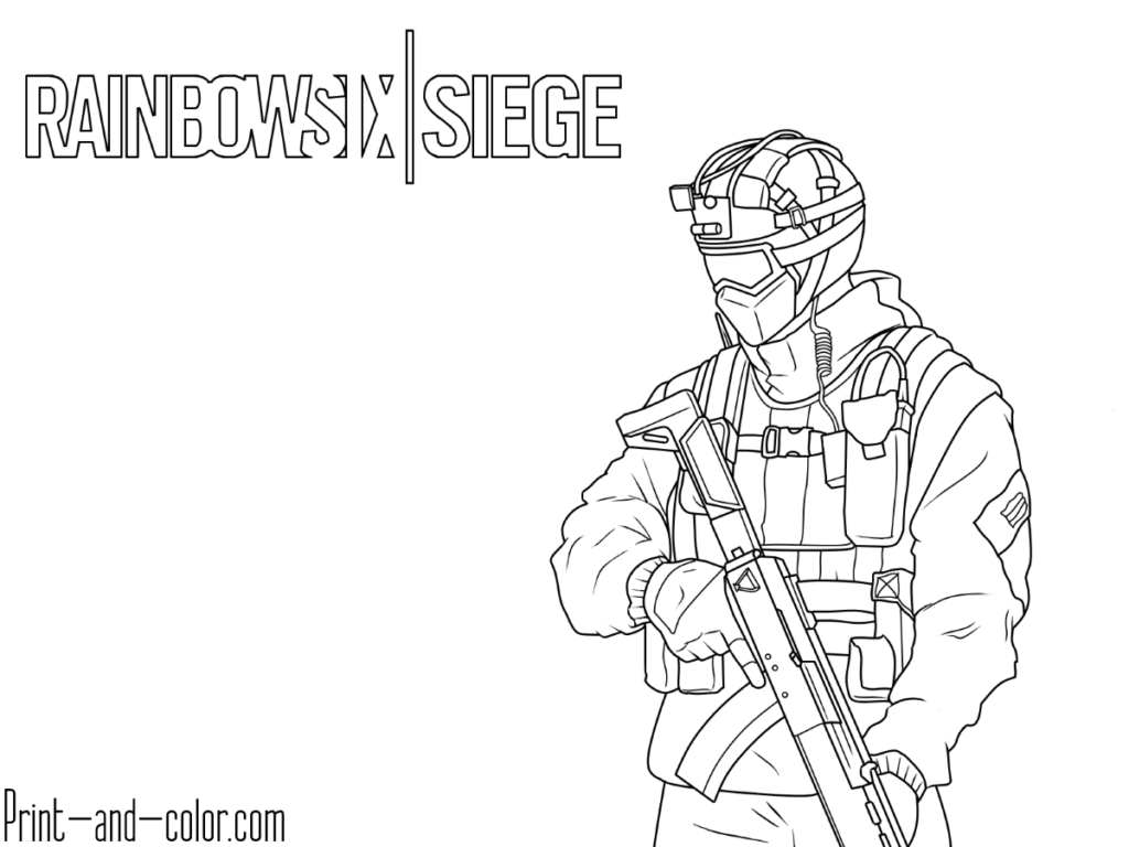 Rainbow Six Siege Coloring Pages Coloring Pages To Print