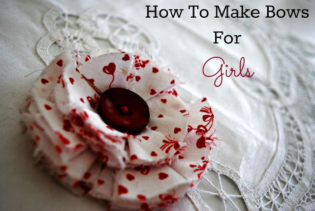 This is a great tutorial on how to make bows for girls, especially on a budget. #handmade #budget #bowsforgirls