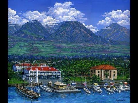 Peindre Montagnes Village Cours Complet Port Bateaux Acrylique Toile