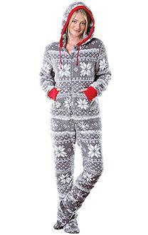 Hoodie-Footie™ - Women, Footie PJs for Women, Footed Pajamas ...