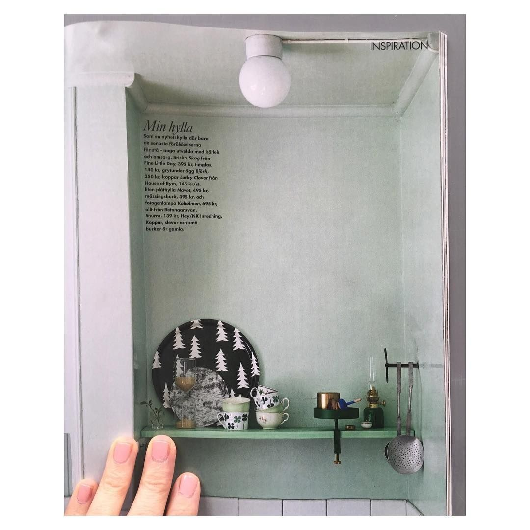 What a great shelf! Thank you @elledecorationse for featuring some of ours in the latest issue  #finelittleday