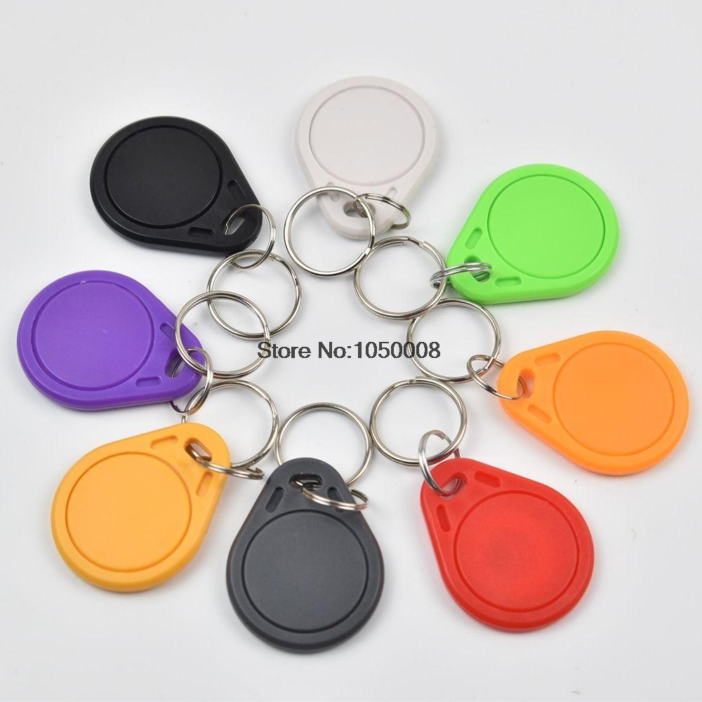 100pcs multicolour UID Changebale Programable 13.56MHZ Sector Rewritable Key Tag
