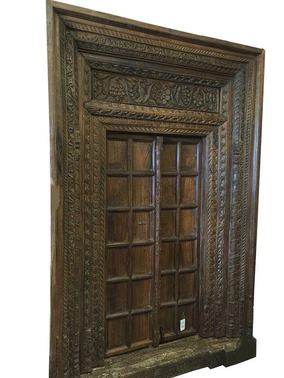 Mogulinterior Antique Haveli Door Entrance Solid by MOGULGALLERY - Mogulinterior Antique Haveli Door Entrance Solid By MOGULGALLERY