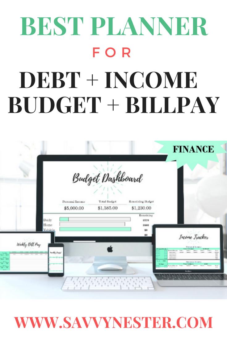 budget planner income tracker excel debt excel loan debt