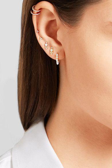 Maria Tash 14 Karat Gold Pearl Earring