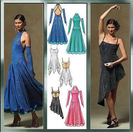 McCall\'s 5136 SEWING PATTERN 12-18 Ballroom Dance/Dancing Dress ...