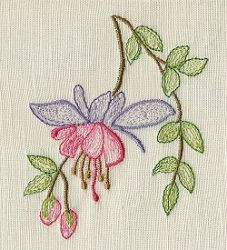 Fuchsia 4x4 Floral Flowers Machine Embroidery Designs Swakembroidery Com Appliq Sewing Embroidery Designs Ribbon Embroidery Flower Embroidery Designs
