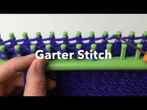 In this video you will learn to loom knit the garter stitch faster. This is not a new technique but I've been asked to make a video on my channel. Using the ... #loomknitting