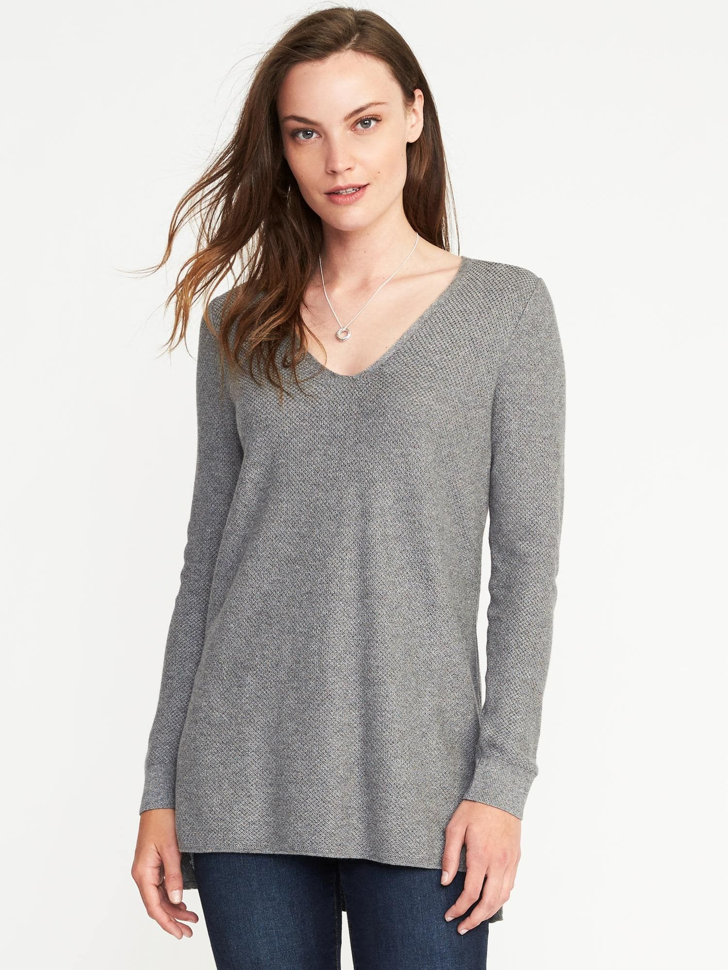 Relaxed Textured V Neck Sweater for Women   Old Navy