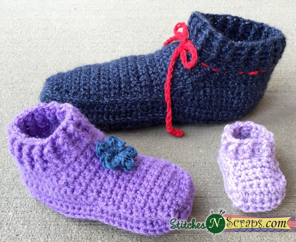 Free Pattern – Non-stop slippers- Adult sizes