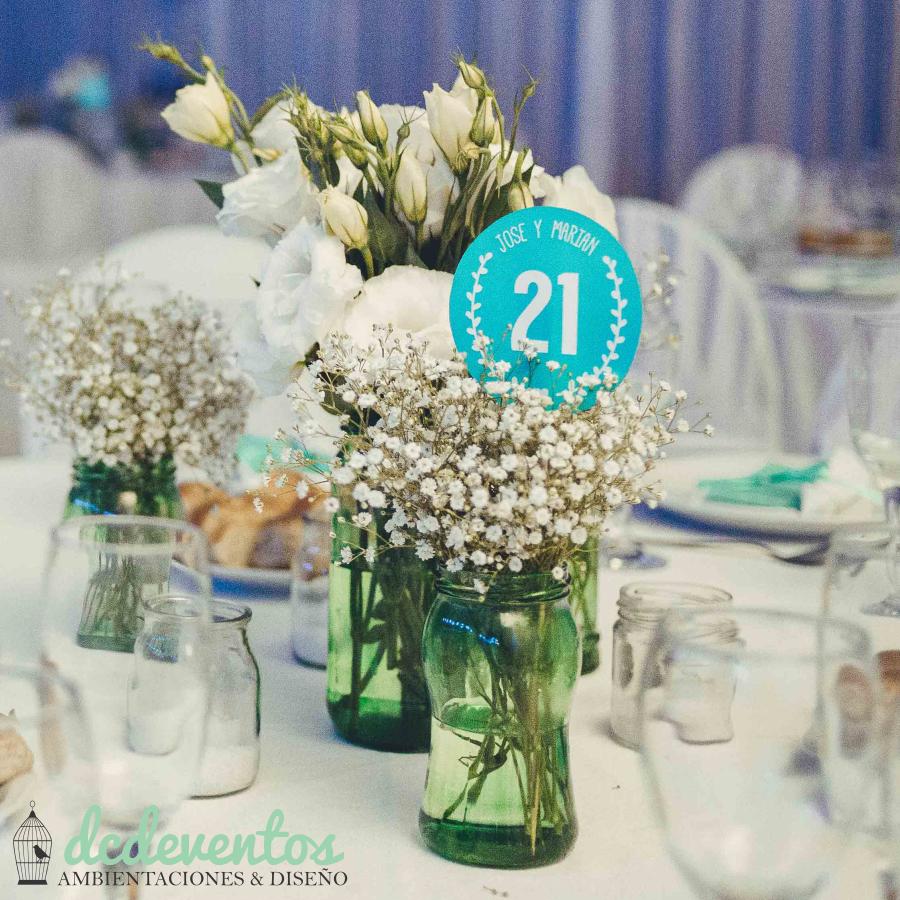 #Números de #mesa para #casamientos #fiestas #15años