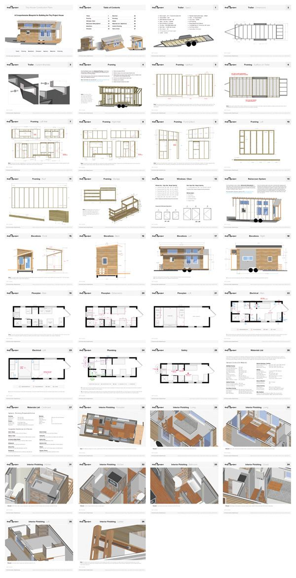 Tiny house on wheels floor plans blueprint for construction crafts tiny house floor plans blueprint construction pdf for sale the tiny project mini houses more life malvernweather Gallery