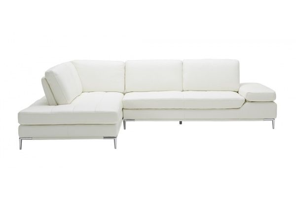 Empire Modern White Sofa Left