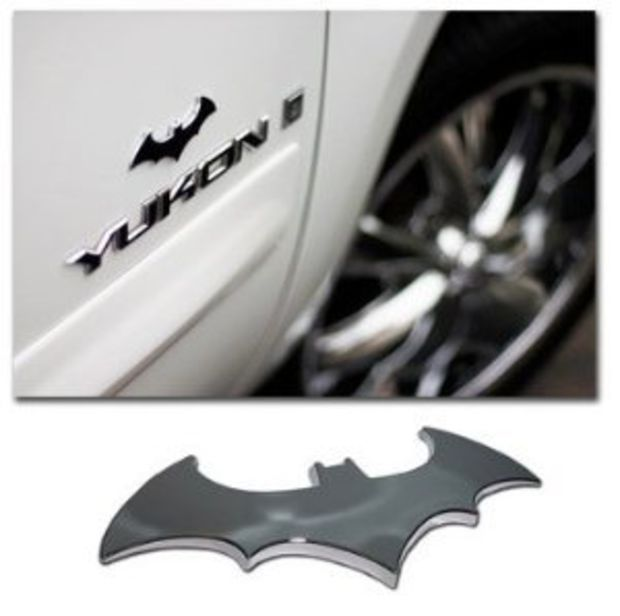 Batman 3 d chrome metal auto emblem new super hero car decal sticker
