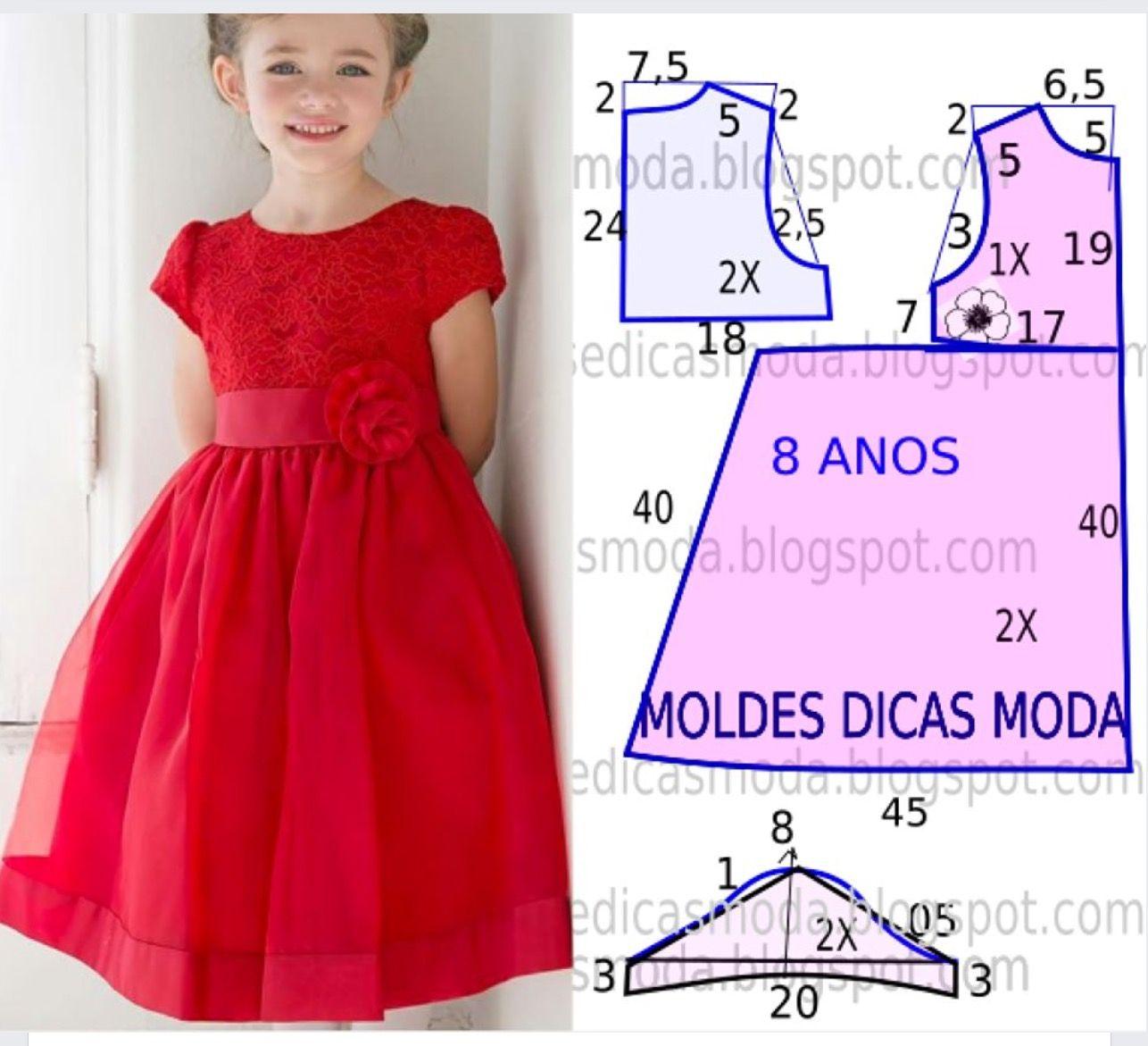 b00b8af31a4b Size 8 years old, measurements in cm. | girls dresses | Kids dress ...