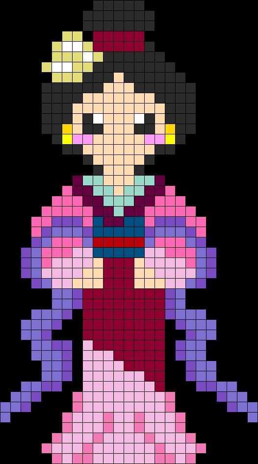 Mulan Perler Bead Pattern / Bead Sprite | cross stitch