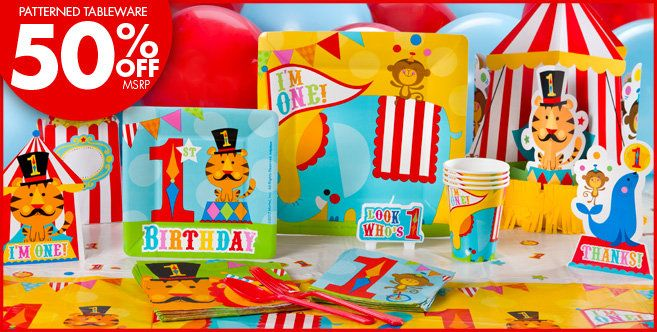 Fisher Price 1st Birthday Party Supplies , Party City Circus
