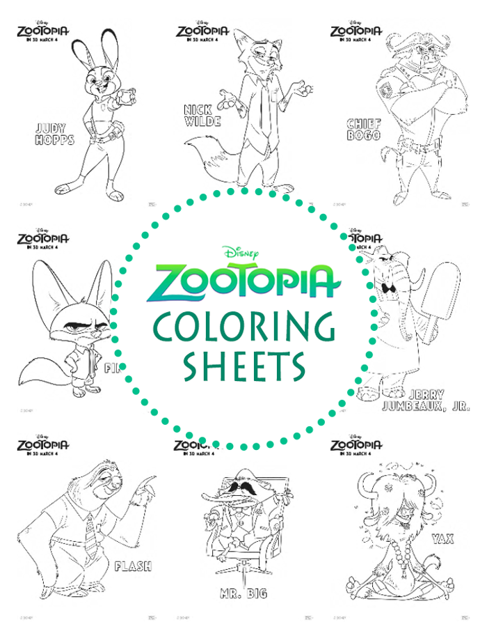 Zootopia Coloring Sheets   Boue   Pinterest   Páginas para colorear ...
